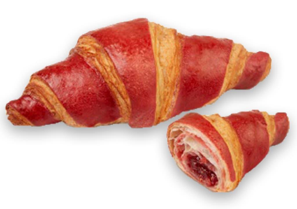 Desayunos a domicilio en Madrid y en toda España - Desayunos Kubala - Croisant bicolor de frambuesa