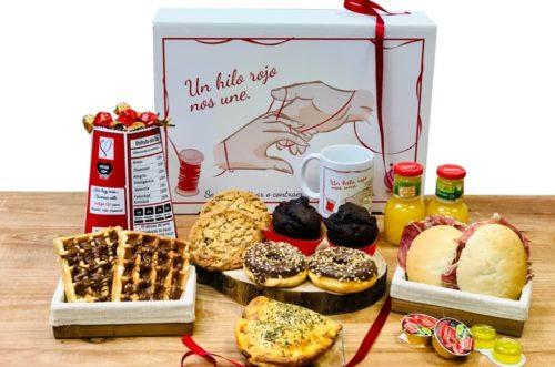 Desayunos a domicilio en Madrid y en toda España - Desayunos Kubala - Desayuno Leyenda del Hilo Rojo - doble