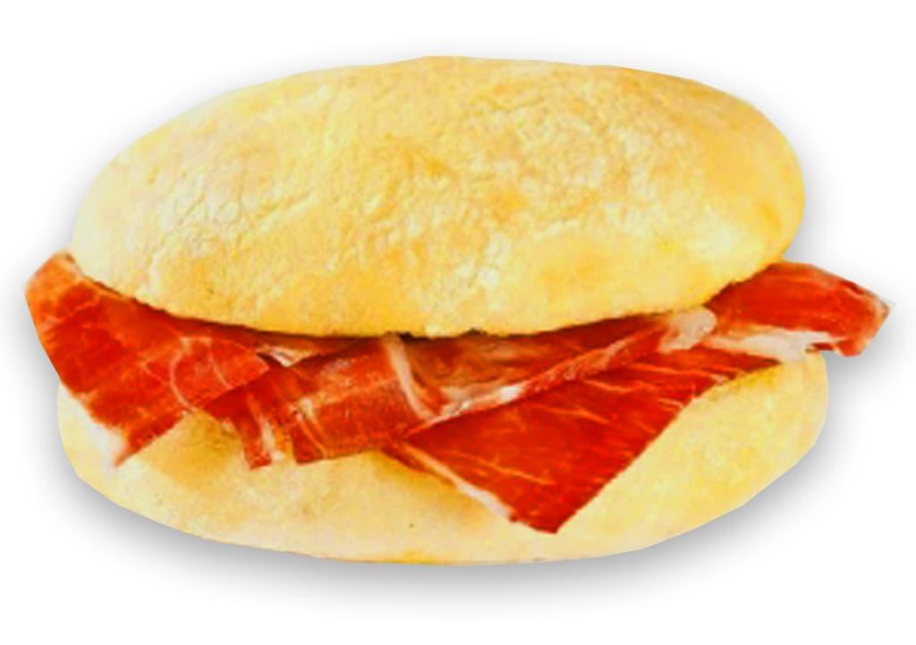 Desayunos a domicilio en Madrid y en toda España - Desayunos Kubala - Mollete de jamón