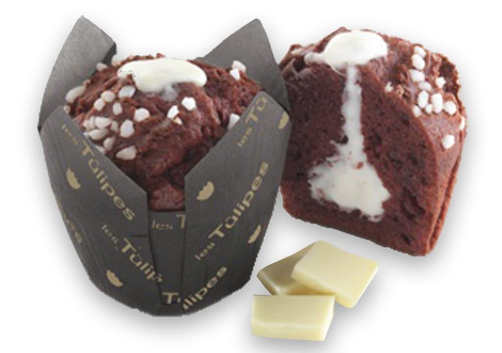 Desayunos a domicilio en Madrid y en toda España - Desayunos Kubala - Muffin Red velvet