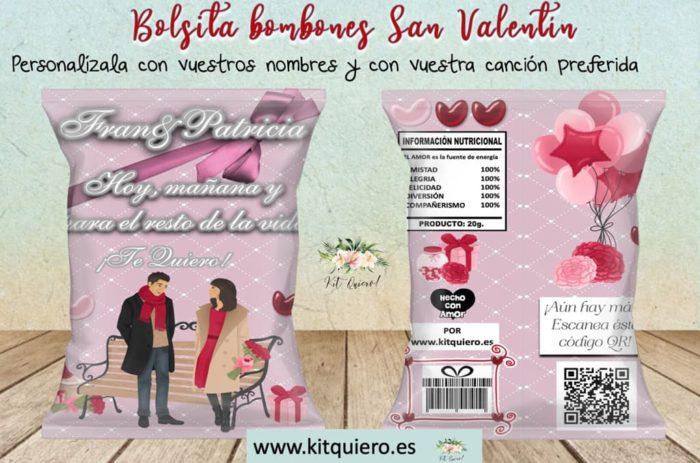 Desayunos a domicilio en Madrid y en toda España - Desayunos Kubala - Sweetbag bombones rosa