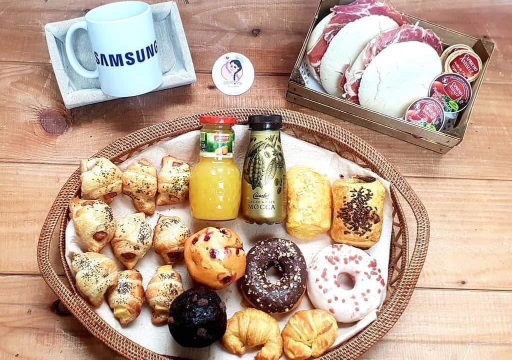 Desayunos a domicilio en Madrid y en toda España - Desayunos Kubala - Página catering - Catering Samsung