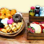 Desayunos a domicilio en Madrid y en toda España - Desayunos Kubala - Desayuno Dulce y salado con molletes de jamón