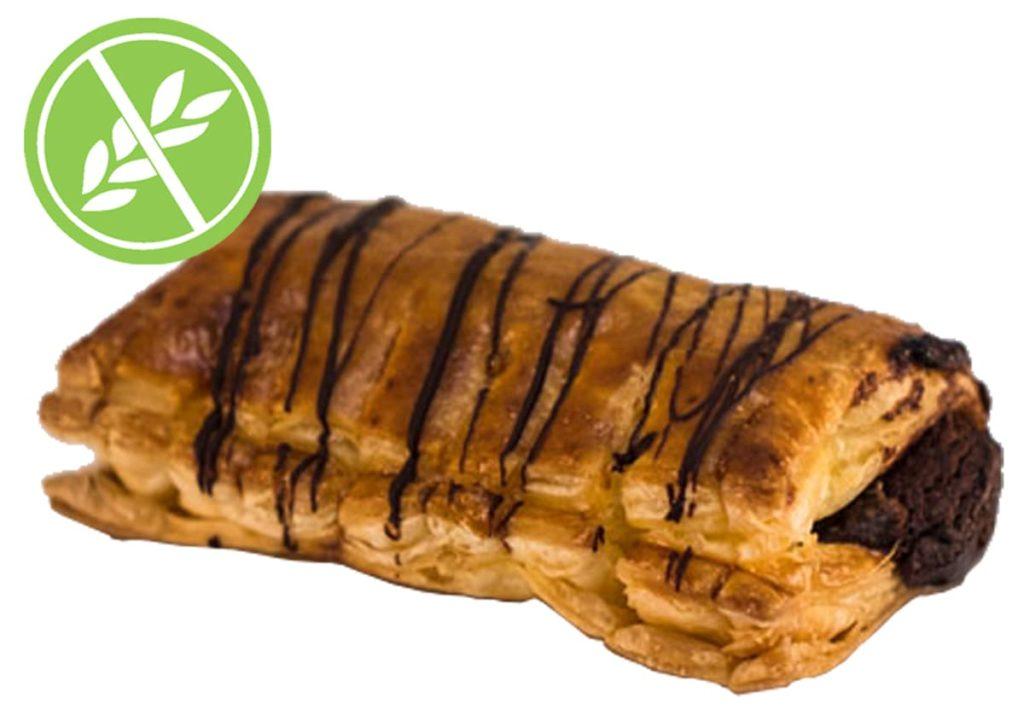 Desayunos a domicilio en Madrid y en toda España - Desayunos Kubala - Napolitana de chocolate sin gluten