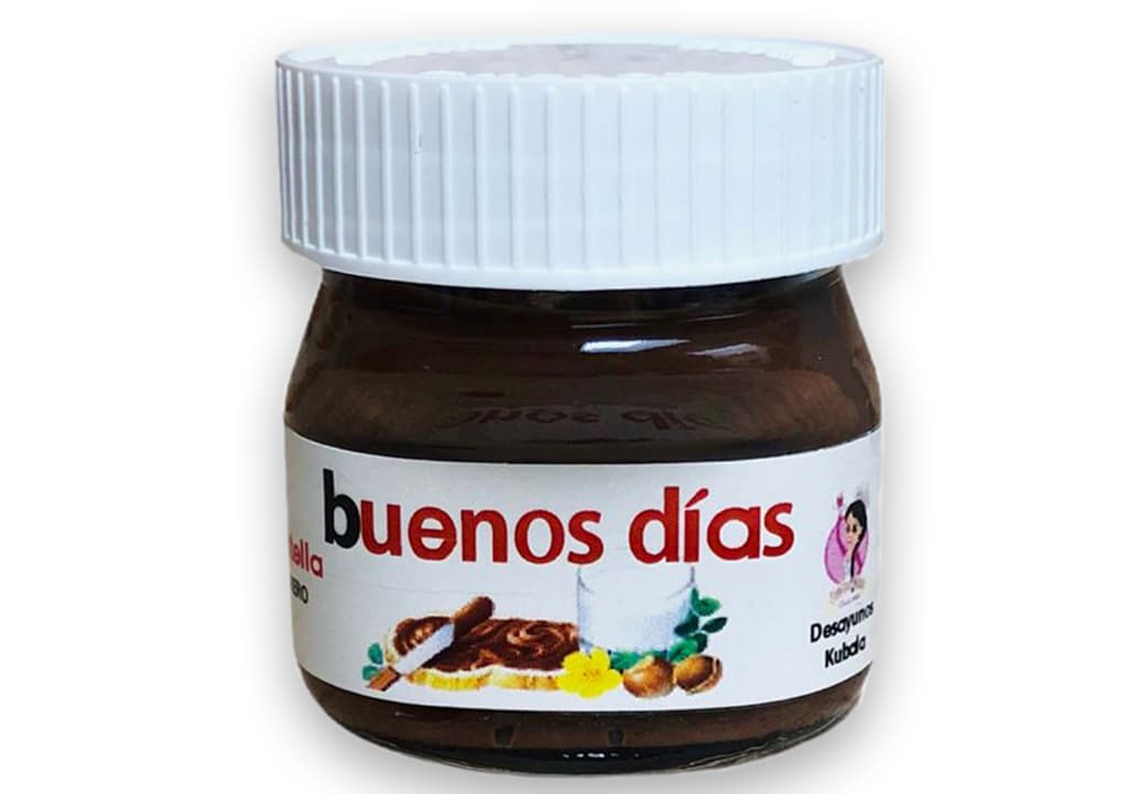 Desayunos a domicilio en Madrid y en toda España - Desayunos Kubala - Bote Nutella