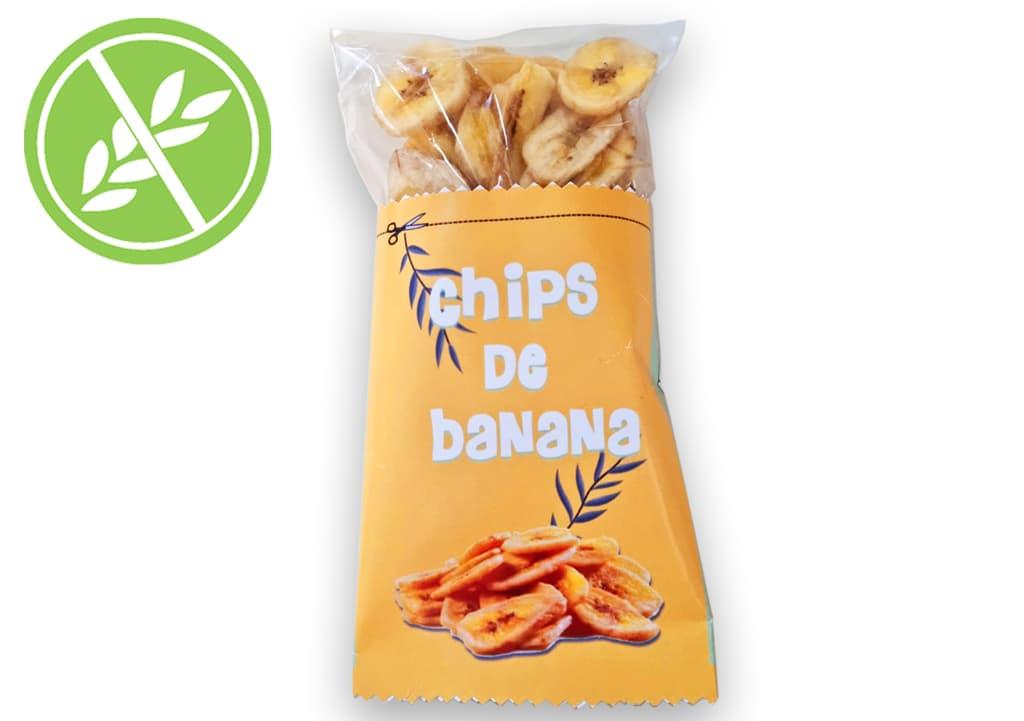 Desayunos a domicilio en Madrid y en toda España - Desayunos Kubala - Bolsa de chips de banana deshidratada-sin-gluten